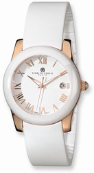 Charles Hubert Rose IP-plated Stainless Steel/Ceramic White Dial Watch