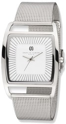 Charles Hubert Stainless Steel White Dial Milanese Band Watch