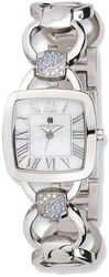 Charles Hubert Stainless Steel White MOP Dial Quartz Watch