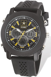 US Army Wrist Armor C21 Watch Black/Yellow Dial & Black Rubber Strap
