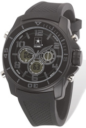 US Army Wrist Armor C24 Watch Black Stealth Dial & Black Rubber Strap