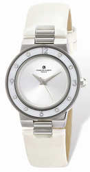 Ladies Charles Hubert Stainless White Mother of Pearl 32mm Watch