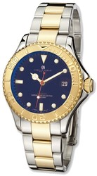 Mens Charles Hubert IP-plated Two-tone Blue Dial Automatic Watch