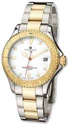 Mens Charles Hubert IP-plated Two-tone White Dial Automatic Watch