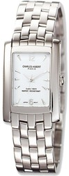 Mens Charles Hubert Solid Stainless Steel White Dial 26x31mm Watch