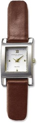 Ladies Charles Hubert Dark Brown Band White Dial 20mm Watch