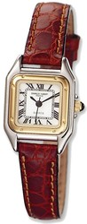 Ladies Charles Hubert Leather Band White Dial Retro 24mm Watch