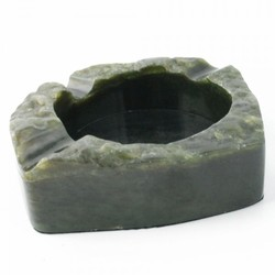 Rough Genuine Natural Nephrite Jade Cigarette Ashtray