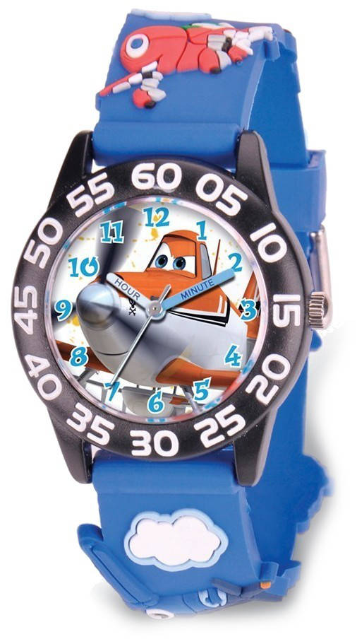 Disney Kids Planes Dusty Acrylic Time Teacher Watch