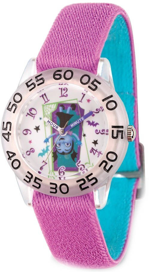 Disney Kids Vampirina Purple Strap Acrylic Time Teacher Watch