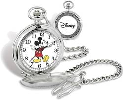 Disney Mickey Mouse Pocket Watch w/ Chain XWA5723