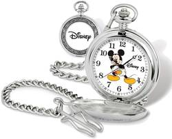 Disney Mickey Mouse Pocket Watch w/ Chain