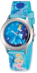 Disney Kids Cinderella Blue Strap Time Teacher Watch