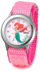 Disney Kids Ariel Pink Strap Time Teacher Watch