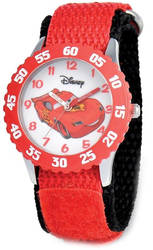 Disney Cars Lightning McQueen Red Strap Time Teacher Watch
