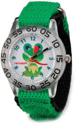 Red Balloon Kids Green Froggy Acrylic Time Teacher Watch