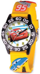 Disney Kids Cars Lightning McQueen Acrylic Time Teacher Watch XWA5735