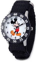 Disney Kids Mickey Mouse w/ Moving Arms Time Teacher Watch