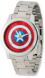 Marvel Adult Size Captain America Stainless Steel Watch