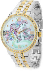 Ladies Disney Ariel Two-tone Metal w/ Crystals Watch