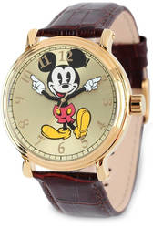 Disney Adult Size Black Strap Mickey Mouse w/ Moving Arms Watch XWA5751