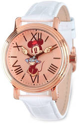 Disney Adult Size Minnie Mouse w/ Moving Arms Rose-tone Watch