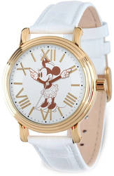 Disney Adult Size White Strap Minnie w/ Moving Arms Vintage Watch