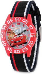 Disney Kids Cars Lightning McQueen Acrylic Time Teacher Watch