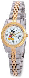 Disney Adult Size Two-tone Metal Mickey Mouse Watch