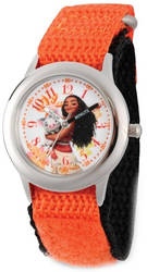 Disney Kids Moana & Pua Orange Strap Time Teacher Watch