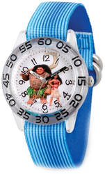 Disney Kids Moana Characters Blue Strap Acrylic Time Teacher Watch
