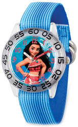 Disney Kids Moana Blue Strap Acrylic Time Teacher Watch
