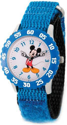 Disney Kids Mickey Mouse Blue Strap Time Teacher Watch