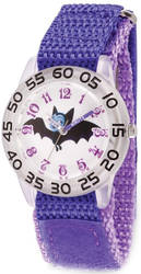 Disney Kids Vampirina Purple Strap Acrylic Time Teacher Watch XWA5789