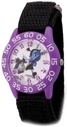 Disney Kids Vampirina & Wolfie Black Strap Acrylic Time Teacher Watch