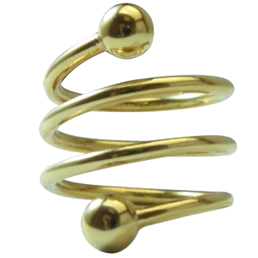 Goldtone Heavy Spiral Magnetic Ring