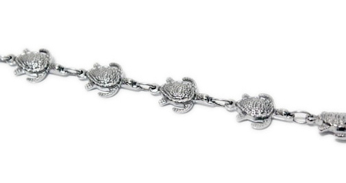 "6.5""+1"" Turtle Design Stainless Steel Link Magnetic Bracelet"