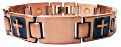 Crossed - Copper-Plated Magnetic Therapy Link Bracelet - New!