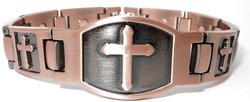 Copper Cross - Magnetic Therapy Bracelet (CLN-6)