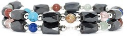 Living Colors Small Wrap Around - Hematite Magnetic Therapy Bracelet-Anklet (HB-34)