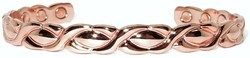 XOXO - Solid Copper Magnetic Therapy Cuff Bracelet (HF-0035ShC)