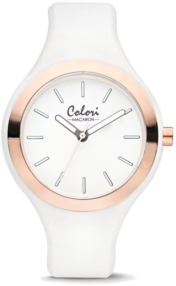 Colori Macaron White/Pink Bezel 30mm Watch