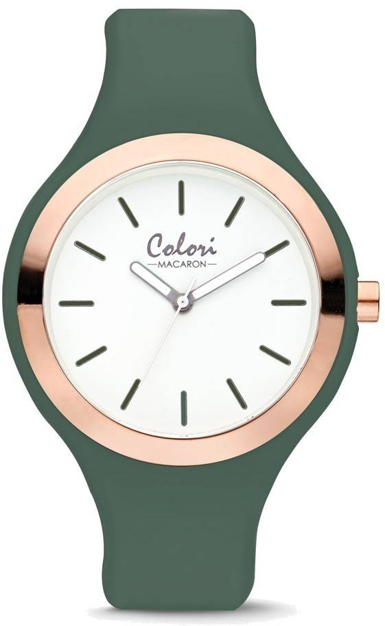 Colori Macaron Green/Pink Bezel 30mm Watch