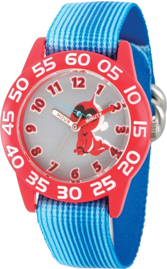 Disney Kids Incredibles 2 Baby Blue Stretch Band Time Teacher Watch