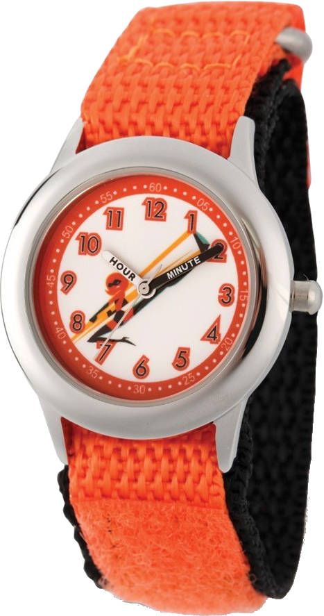 Disney Kids Incredibles 2 Mom Orange Nylon Band Time Teacher Watch