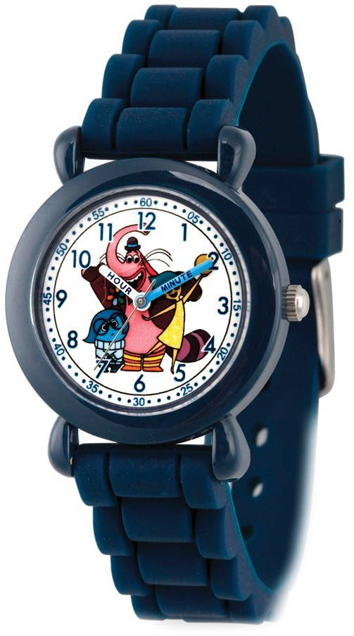 Disney Kids Inside Out Navy Silicone Band Time Teacher Watch