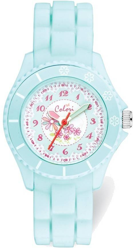 Colori Kids Mint Green Flower Watch