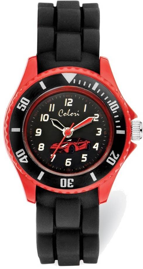 Colori Kids Black/Red Car Watch