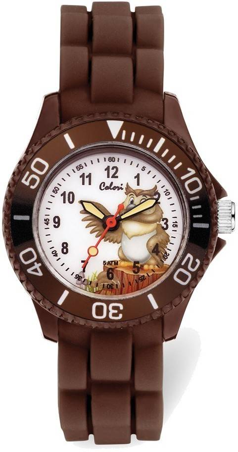 Colori Kids Brown Wise Owl Watch