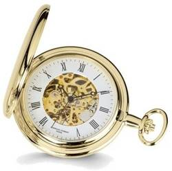 Charles Hubert Gold-Plated White Dial Pocket Watch XWA1030